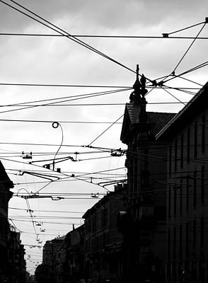 Photograph - Cables And Shadows by Valentino Visentini