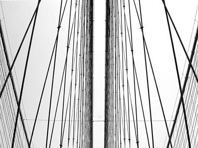 Photograph - Cables Of Brooklyn Bridge by Ferran Serra