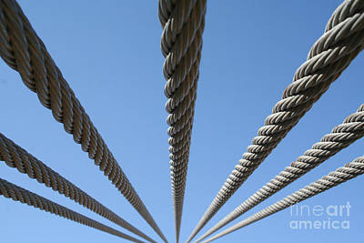 Art Print featuring the photograph Cables To Heaven by Andrew Serff