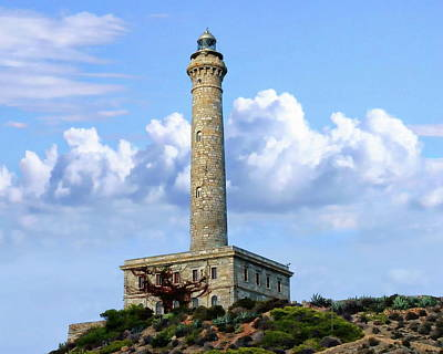 Photograph - Cabo De Palos Lighthouse by Anthony Dezenzio