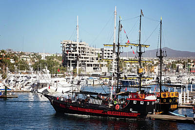 Photograph - Cabo Legend Pirate Ships by Deana Glenz