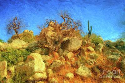 Digital Art - Cabo Park Landscape by Gerhardt Isringhaus