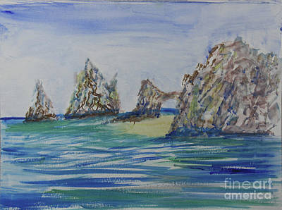 Painting - Cabo Rock Formations by Donna Walsh