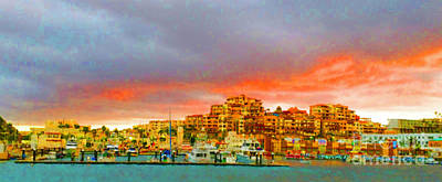 Digital Art - Cabo San Lucas At Dusk by Kathy Kelly
