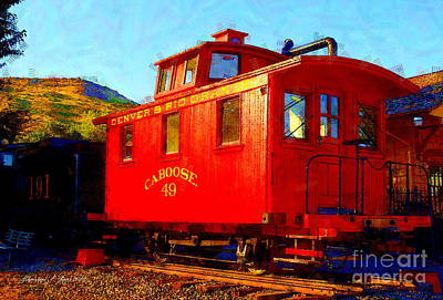 Photograph - Caboose 49 by Christine S Zipps