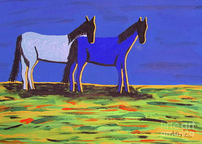 Painting - Caboose And Bella by Jeffrey Koss