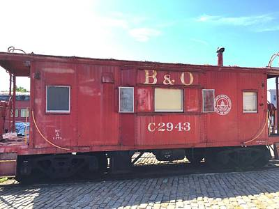 Photograph - Caboose by Chris Montcalmo