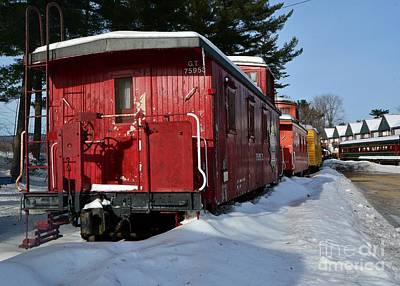 Vintage Conway Photograph - Caboose From The Past by Steve Brown