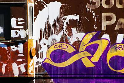 Caboose Graffiti Original by Michael Madrid