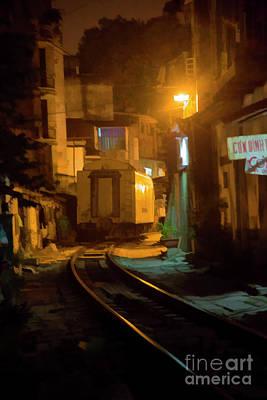 Caboose Photograph - Caboose Hanoi Tracks Digital Paint by Chuck Kuhn