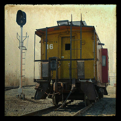 Caboose Photograph - Caboose by Joel Witmeyer