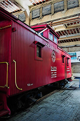 Photograph - Caboose by Larry Bishop