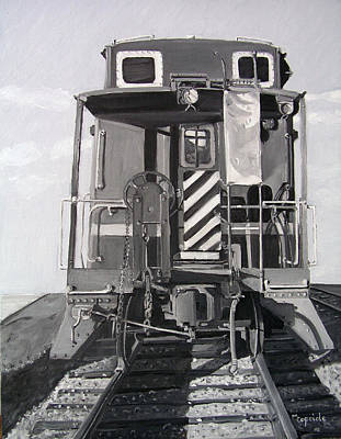 Painting - Caboose by Mary Capriole