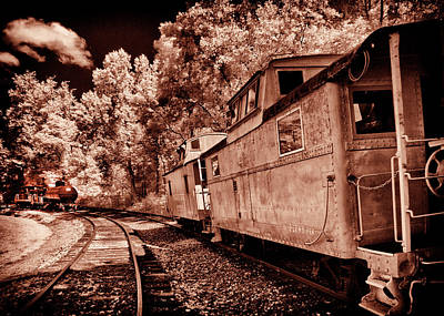 Photograph - Caboose On A Siding by Paul W Faust - Impressions of Light