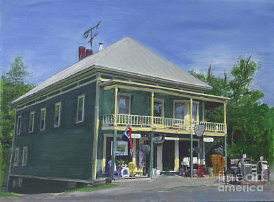Painting - Cabot Hardware Store Restaurant And Bar by Donna Walsh