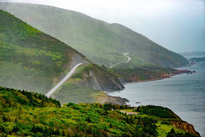 Photograph - Cabot Trail In The Rain. by Patrick Boening