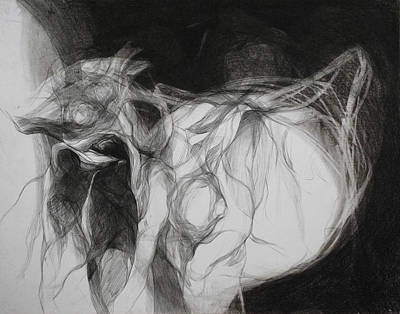 Abstracted Figuration Drawing - Cabra Cosmica by Mirjana Lucic