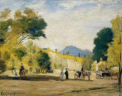 Painting - Cabs For Hire by Louis Michel Eilshemius