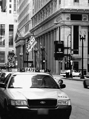 Cabs In The City Art Print