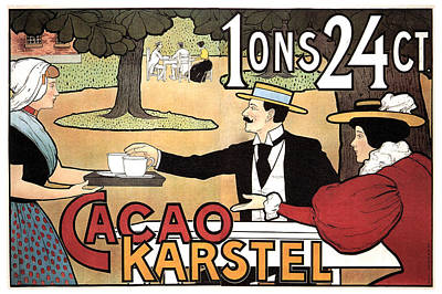Mixed Media - Cacao Karstel - Vintage Cacao Advertising Poster by Studio Grafiikka
