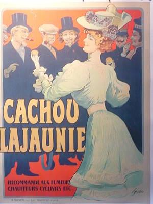 Cachou Lajaunie Vintage Poster Original by Tamagno Francisco