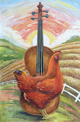 Cacklin Hen Art Print by Paula Blasius McHugh