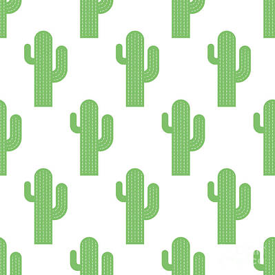 Mexican Decoration Painting - Cacti by Alina Krysko