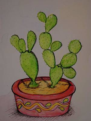 Home Decoration Mixed Media - Cactus 1 by Anne Seay