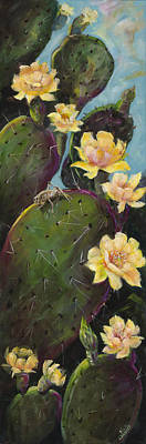 Spindles Painting - Cactus #1 by Vicki Caucutt