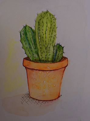 Western Art Mixed Media - Cactus 2 by Anne Seay