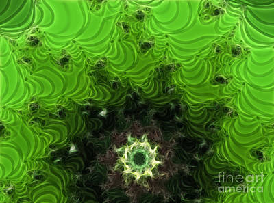 2hivelys Art Digital Art - Cactus Abstract by Methune Hively
