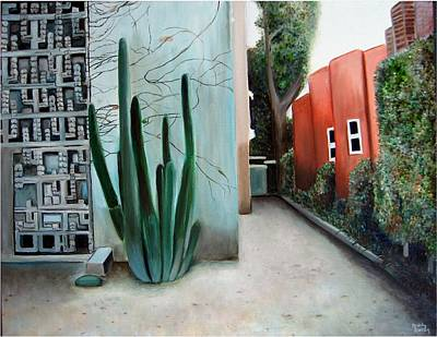 Frank Lloyd Wright Painting - Cactus Alley  by Ashly Eaton