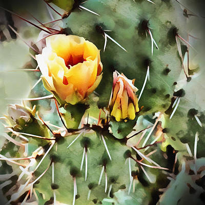 Digital Art - Cactus Bloom  by Ann Powell