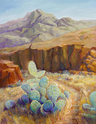 Painting - Cactus Canyon by Diana Cox