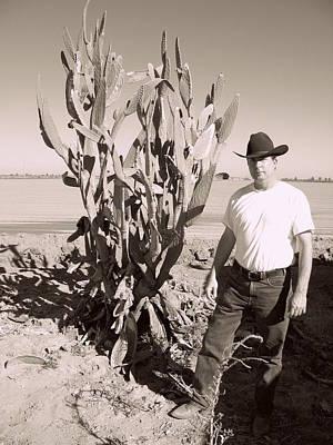 Beach House Signs - Cactus Cowpoke by Rollin Jewett