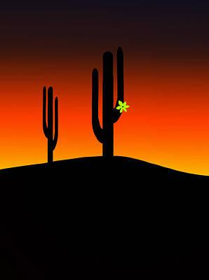 Desert Sunset Digital Art - Cactus Flower by Gravityx9 Designs