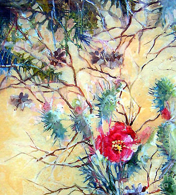 Painting - Cactus Flower by Linda Shackelford
