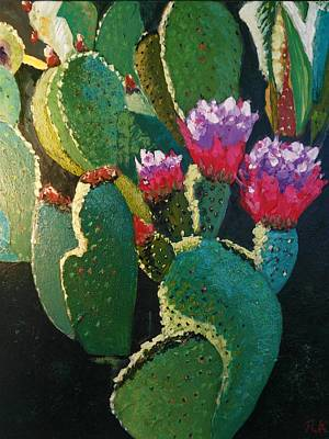 Painting - Cactus Flower by Ray Khalife
