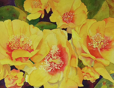 Painting - Cactus Flowers by Judy Mercer
