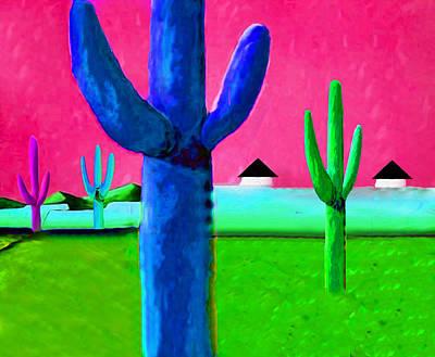 Cactus Four By Nixo Print by Nicholas Nixo