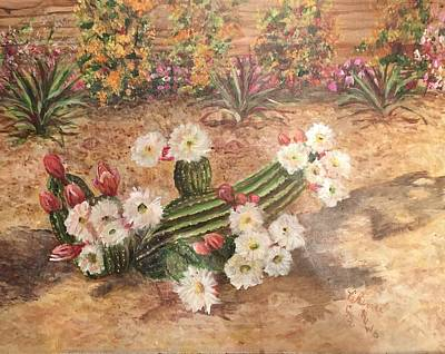 Painting - Cactus Garden by Charme Curtin