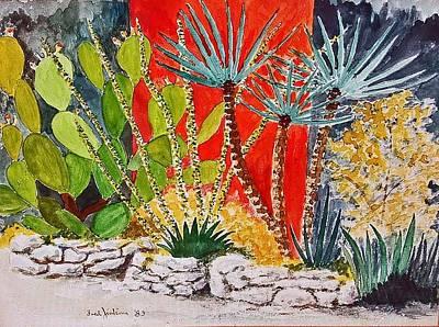 Austin Artist Mixed Media - Cactus Garden  by Fred Jinkins