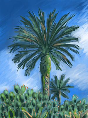 Digital Art - Cactus Garden by Jean Pacheco Ravinski