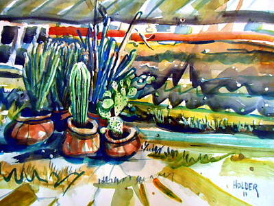 Painting - Cactus Garden by Steven Holder