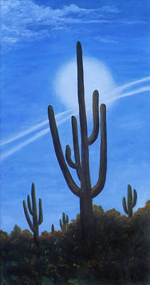 Art Print featuring the painting Cactus Halo by Judy Filarecki