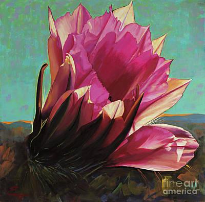 Painting - Cactus In Bloom by Ekaterina Stoyanova