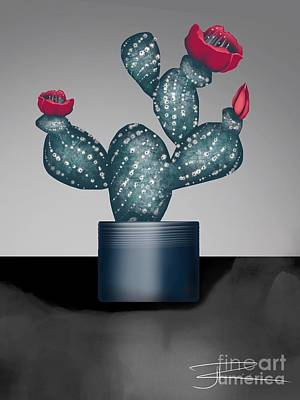 Digital Art - Cactus In Bloom II by J Kinion