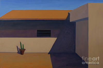 Painting - Cactus In Summer Heat by Mini Arora