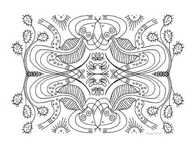 Art Print featuring the drawing Cactus Liz by Angela Treat Lyon