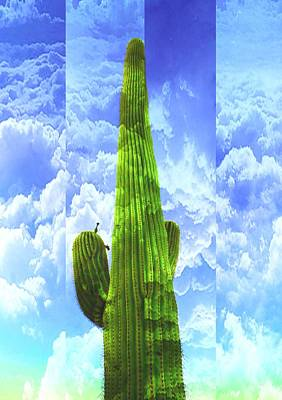 Mixed Media - Cactus Skies by Michelle Dallocchio